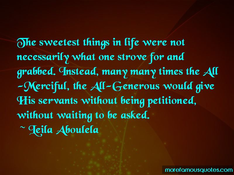 Quotes About The Sweetest Things In Life