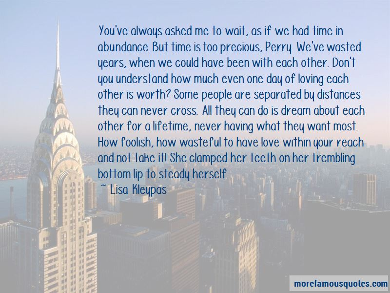 Quotes About Wasted Time And Love