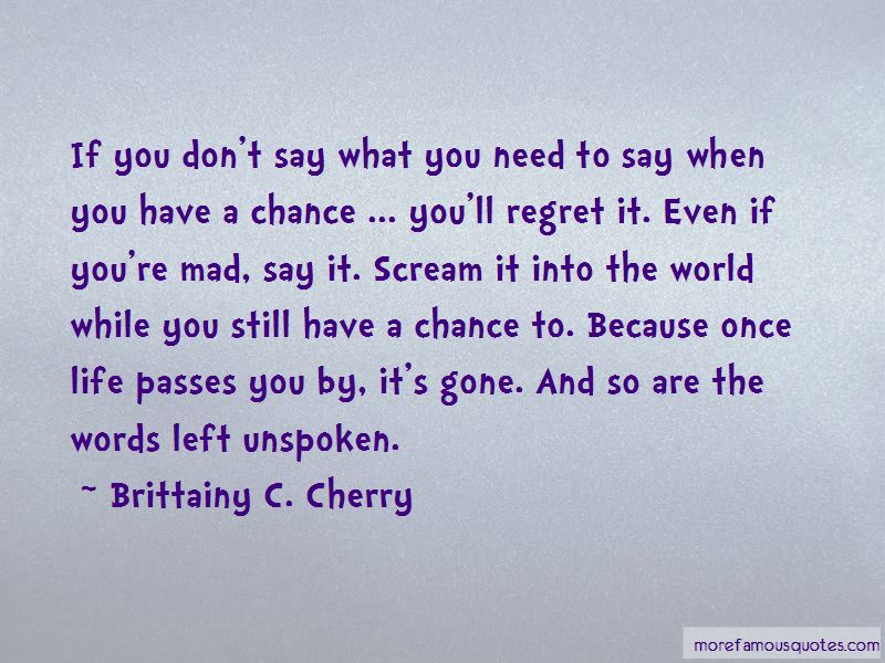 Words Left Unspoken Quotes Pictures 2
