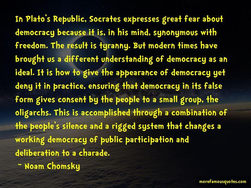 Socrates Democracy Tyranny Quotes