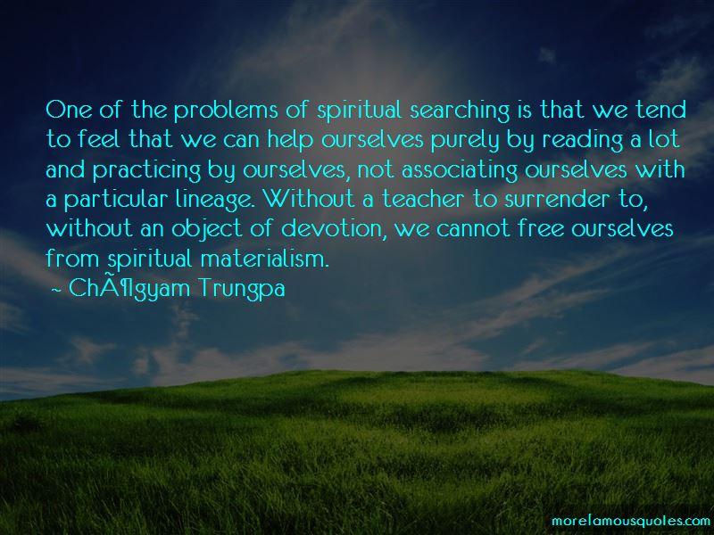 Spiritual Materialism Quotes