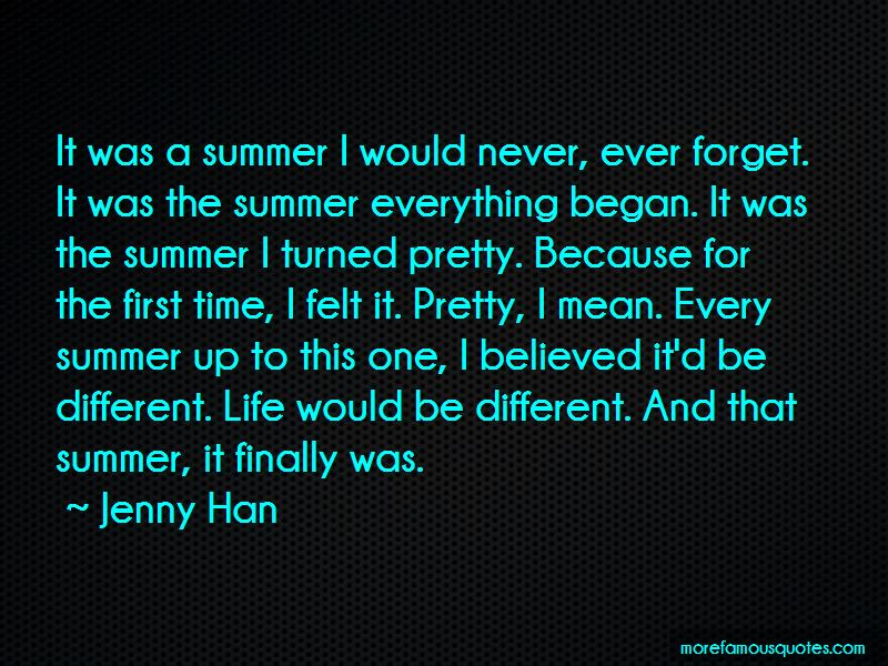 That Summer I Turned Pretty Quotes