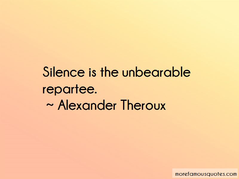 Unbearable Silence Quotes Pictures 4