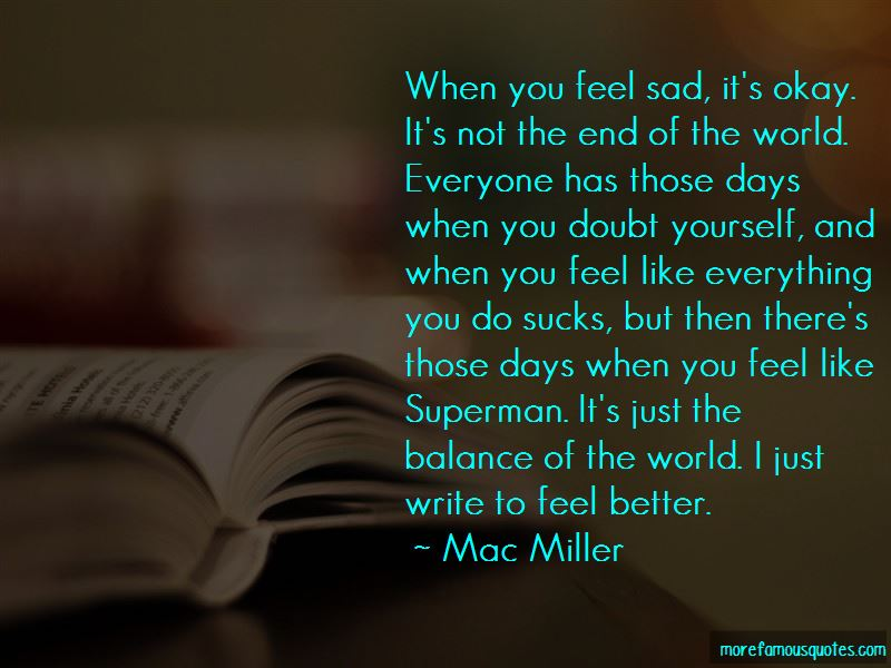 When You Feel Sad Quotes
