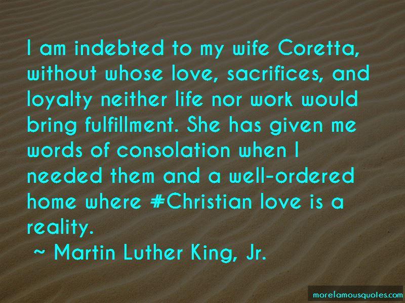 Wife Sacrifices Quotes