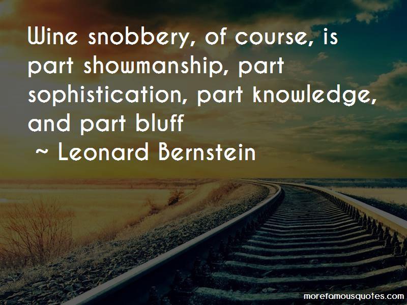 Wine Snobbery Quotes
