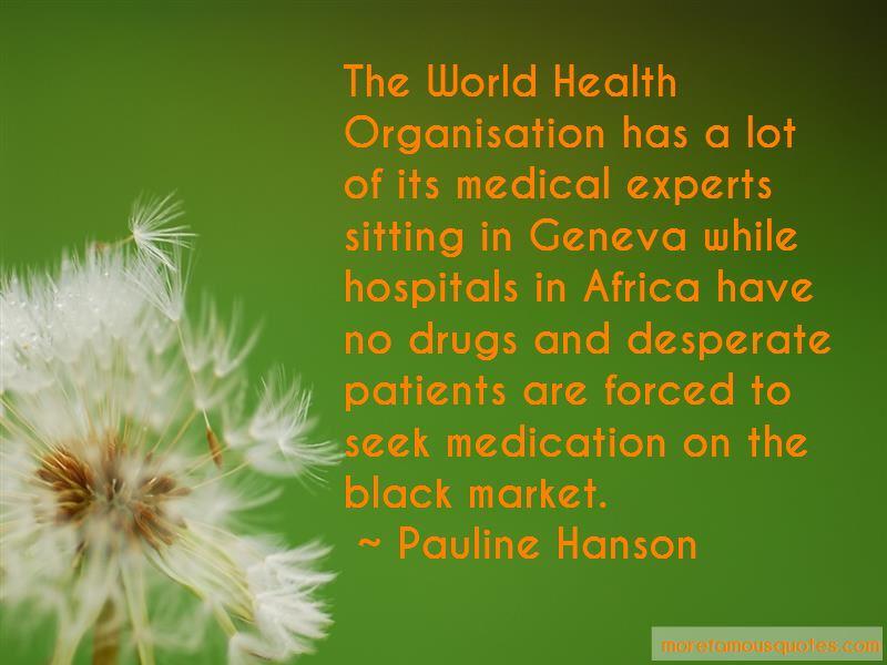 World Health Organisation Quotes