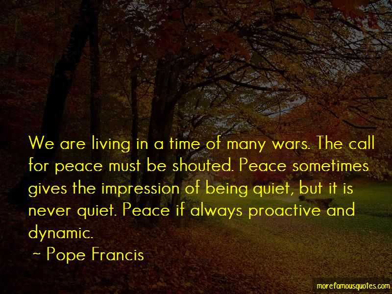 Call For Peace Quotes Pictures 2