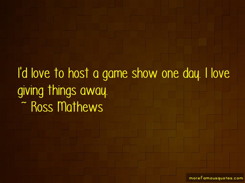 Giving Things Away Quotes Pictures 2