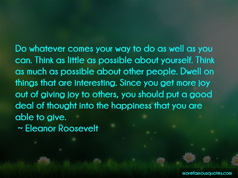 Happiness Comes From Little Things Quotes