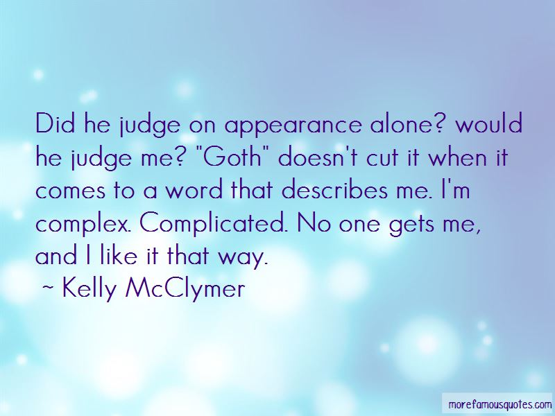 Judge On Appearance Quotes