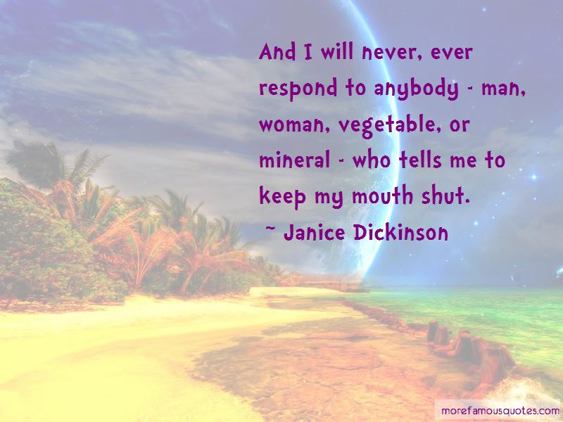 Keep My Mouth Shut Quotes