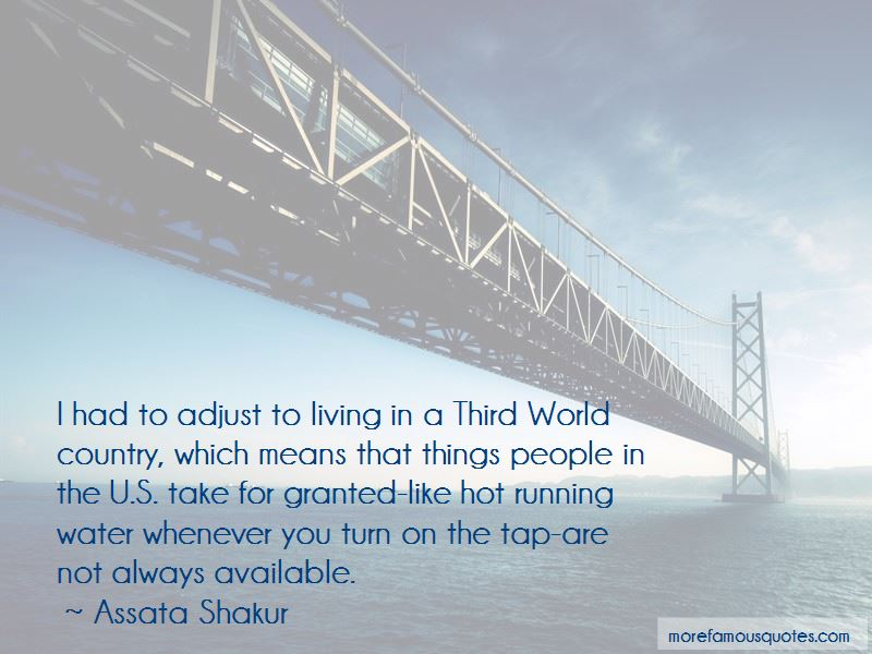 Living In A Third World Country Quotes Pictures 2