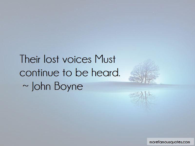 Lost Voices Quotes