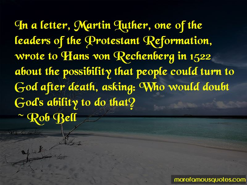 Martin Luther Protestant Quotes