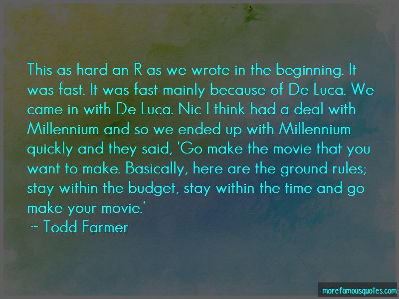 Millennium Movie Quotes