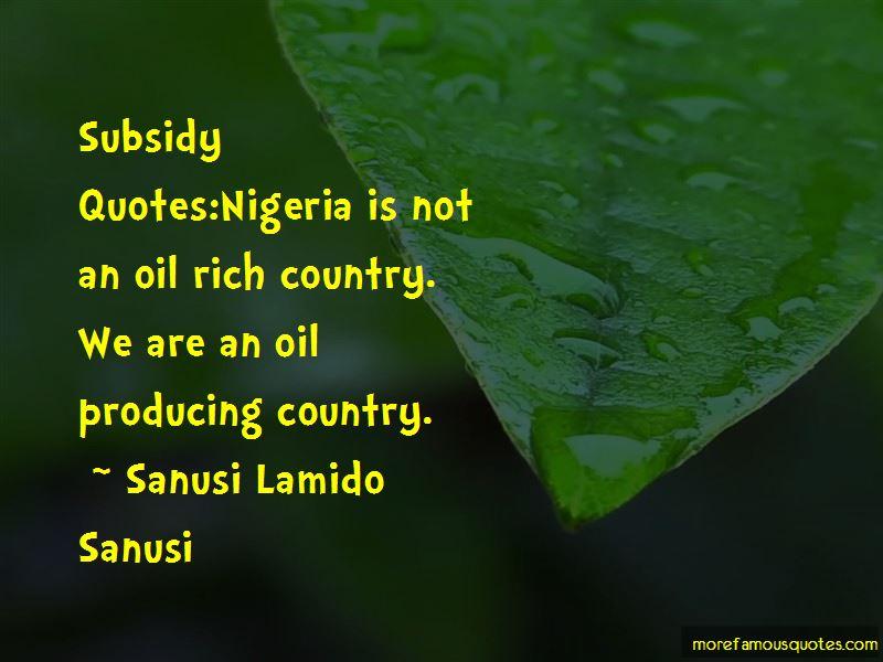 oil subsidy