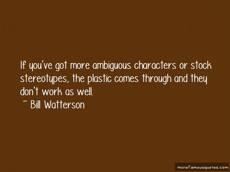 Quotes About Ambiguous Characters
