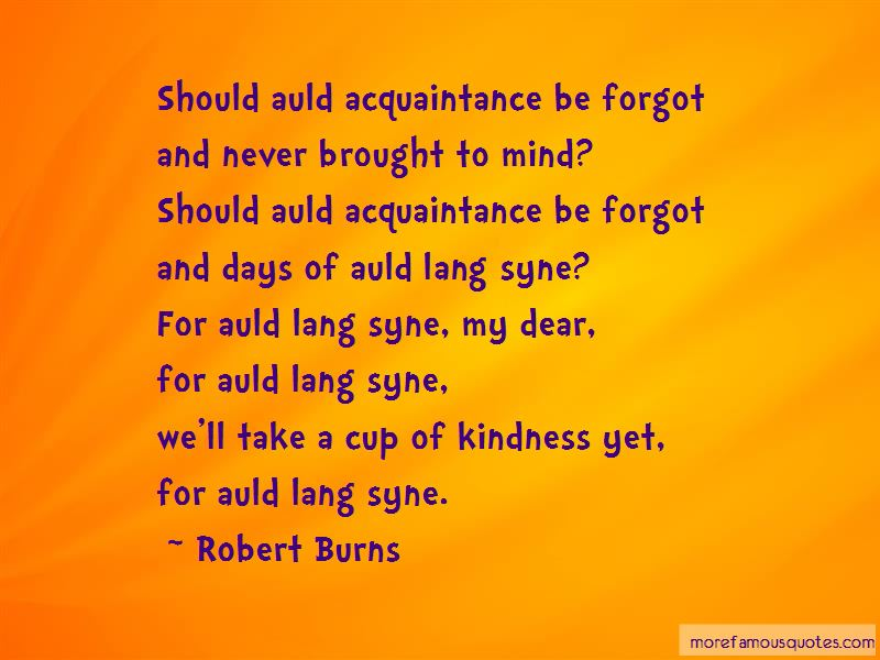 Quotes About Auld Lang Syne