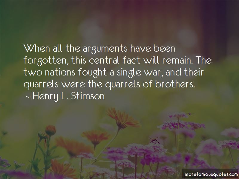 Quotes About Brothers Quarrels