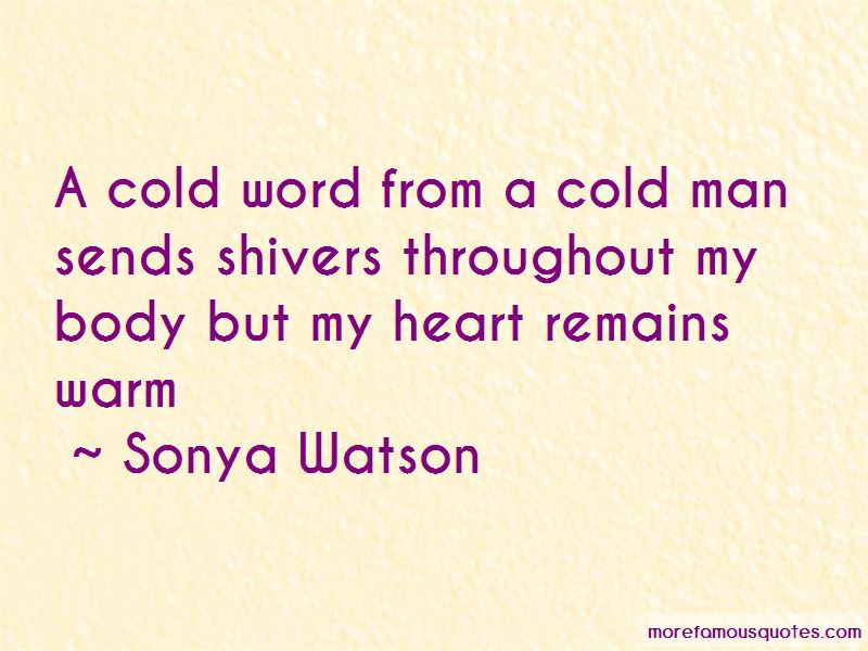 Cold Man Quotes Pictures 2