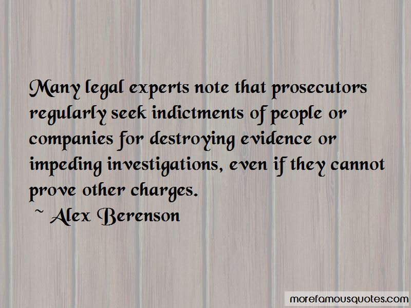 Quotes About Destroying Evidence