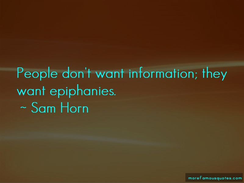 Quotes About Epiphanies