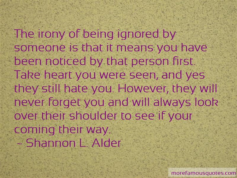 Quotes About Ignored By Someone