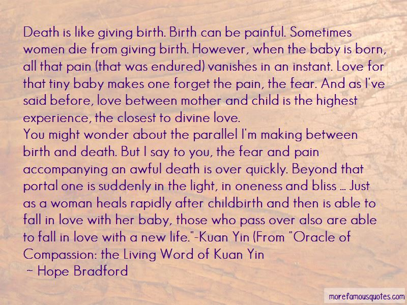 Love And Childbirth Quotes Pictures 2