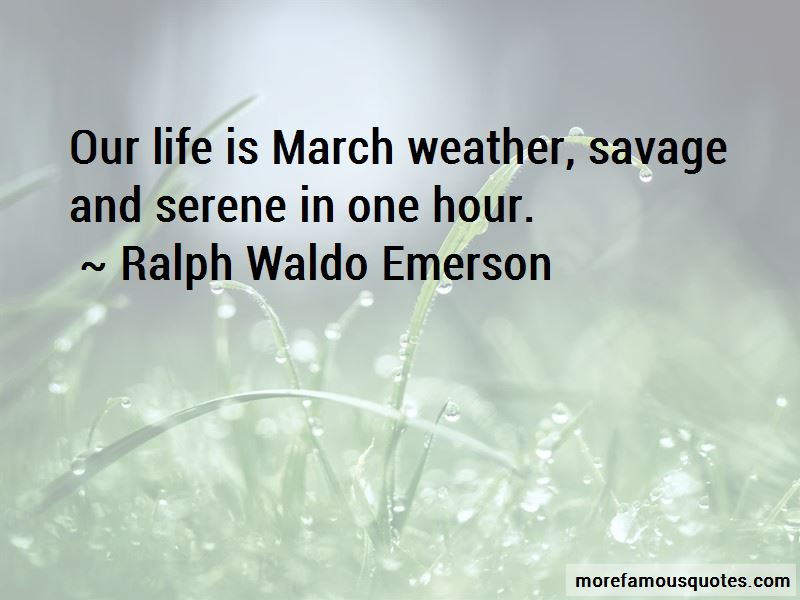 Quotes About March Weather
