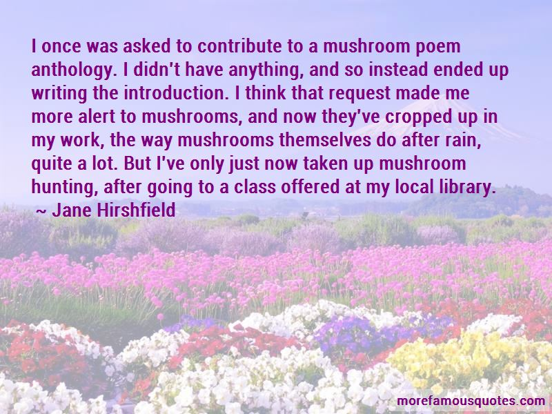Quotes About Mushroom Hunting