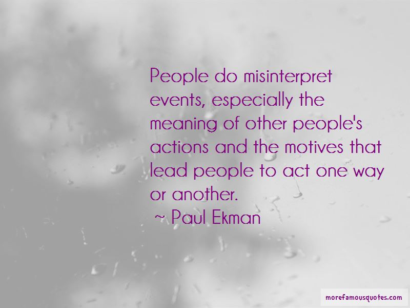 Quotes About Other People's Actions