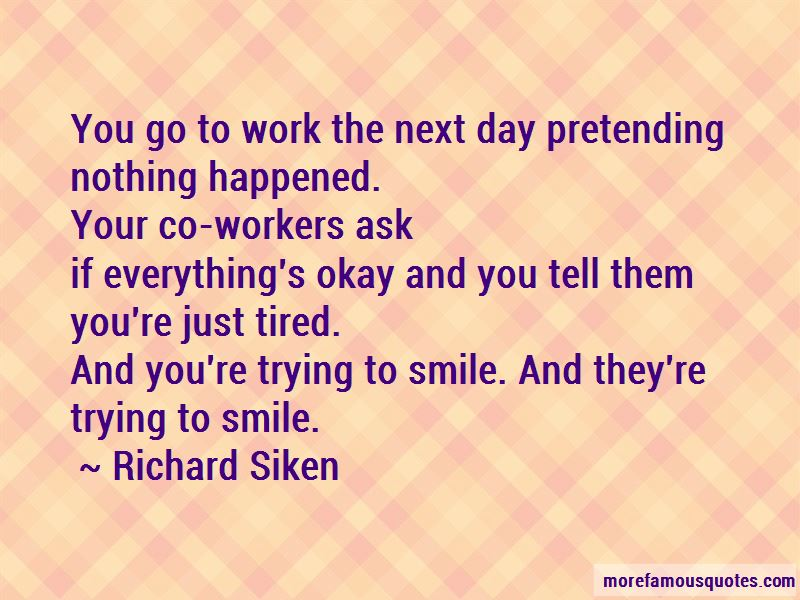 Quotes About Pretending To Smile