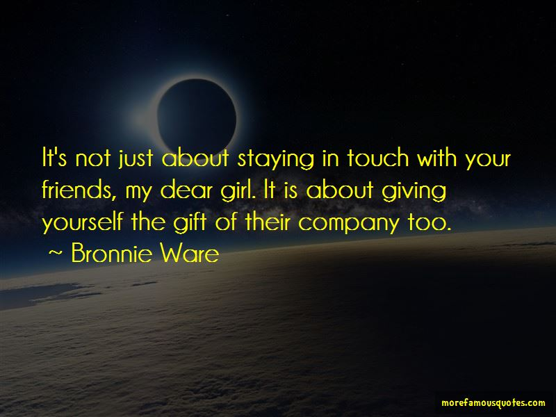 Quotes About Staying In Touch With Friends