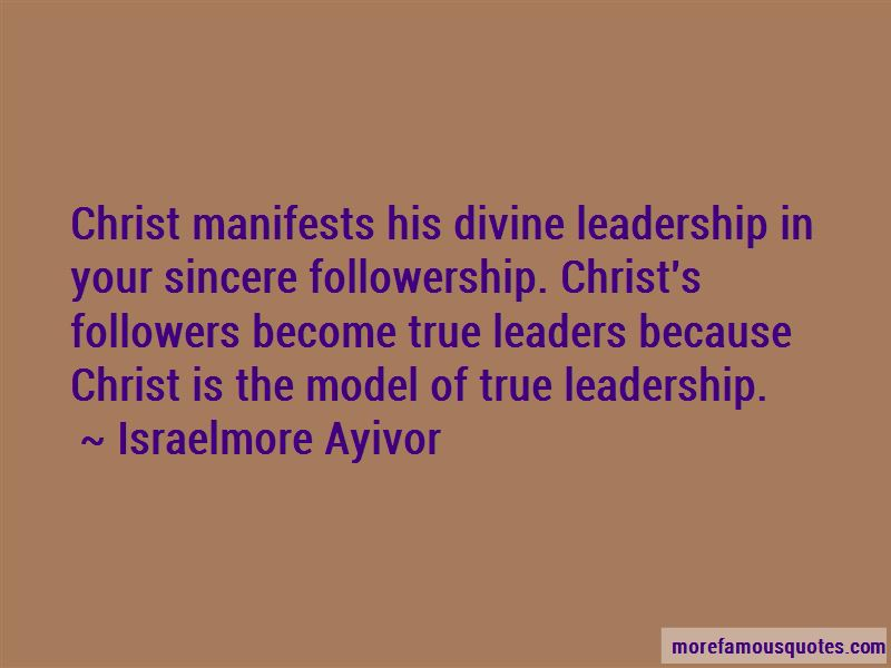 Quotes About True Leaders