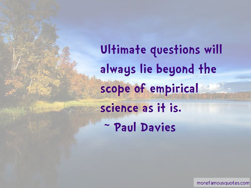 Quotes About Ultimate Questions