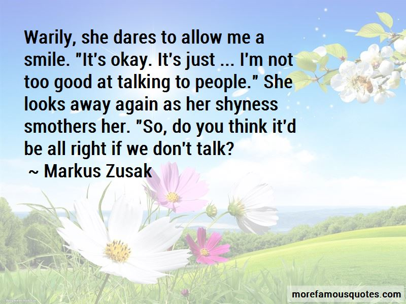 Shyness Smile Quotes