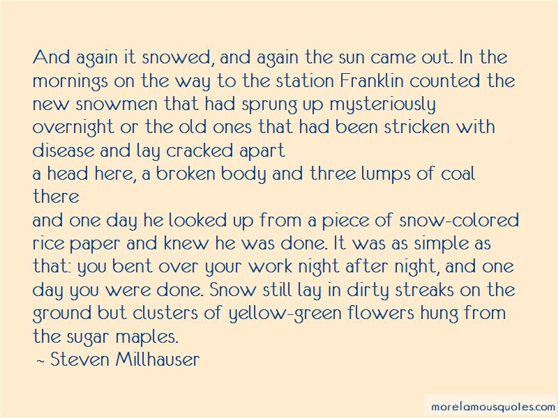 Snowed In With You Quotes