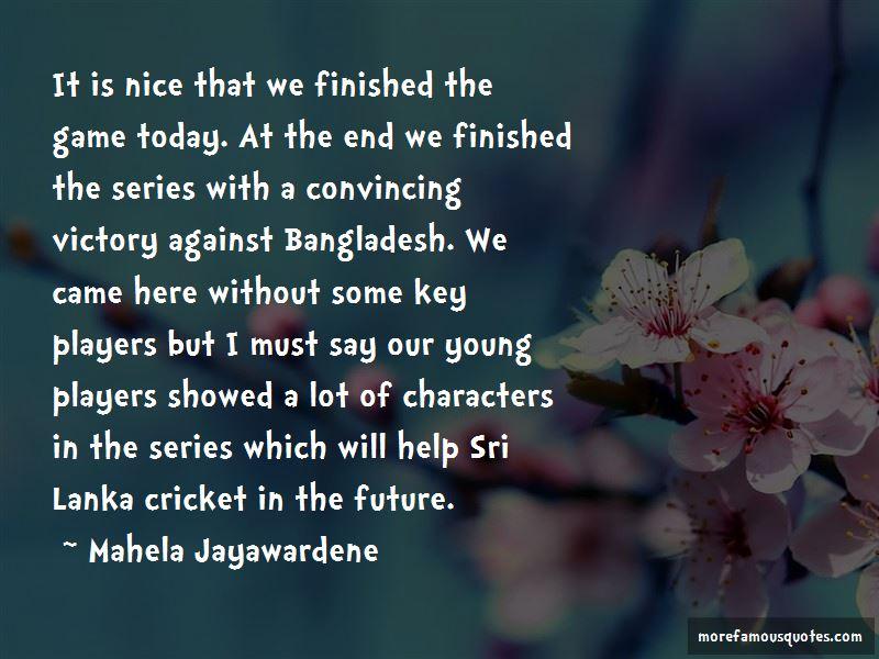Sri Lanka Cricket Quotes