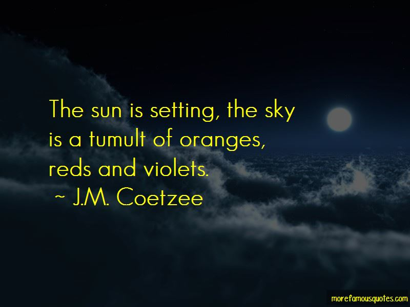 Sun Is Setting Quotes
