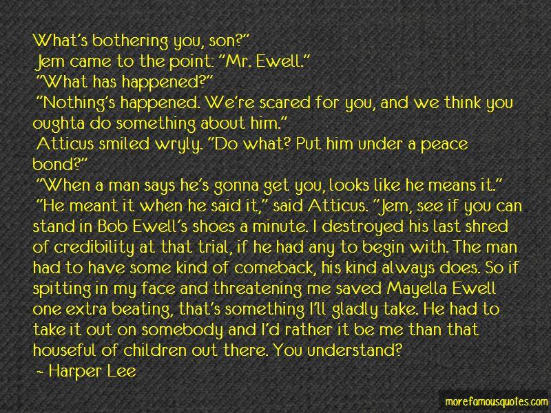 Bob Ewell Spitting Quotes