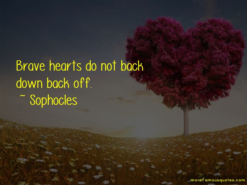 Do Not Back Down Quotes
