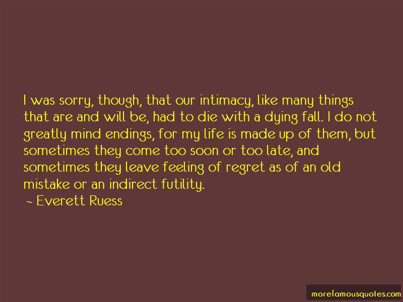Feeling Of Regret Quotes Pictures 4