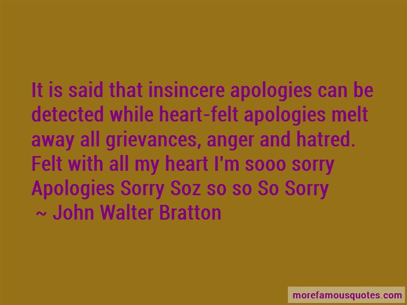 Insincere Sorry Quotes