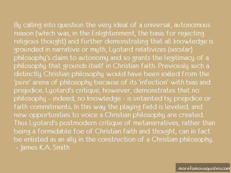 Lyotard Postmodern Quotes