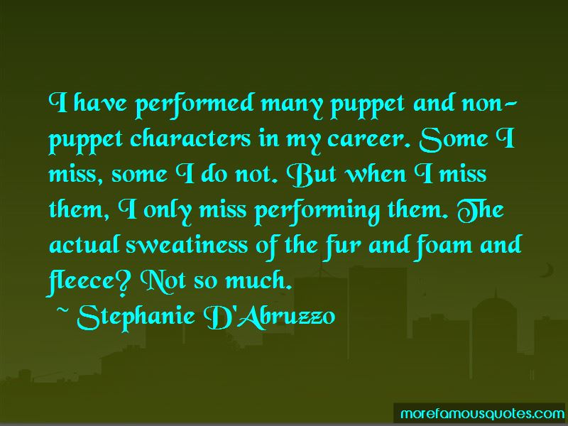 Miss Performing Quotes
