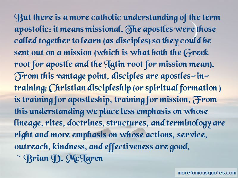 Quotes About Apostleship