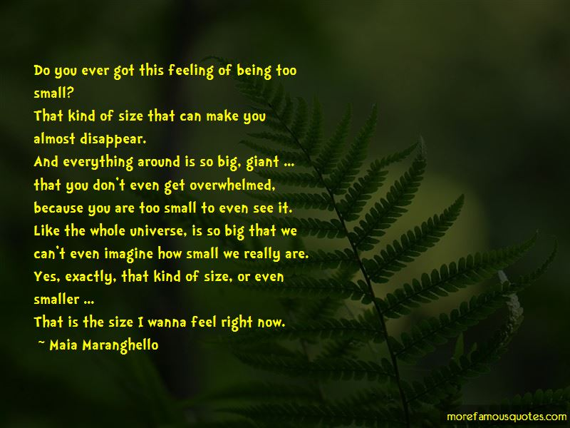 Quotes About Being Small In Size