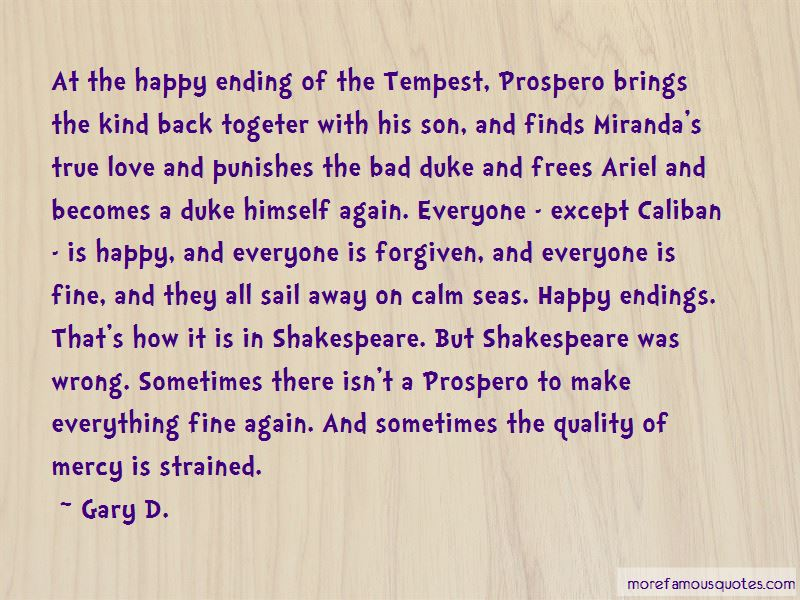 Quotes About Caliban In The Tempest