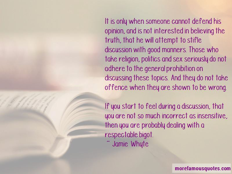 Quotes About Discussing Religion And Politics